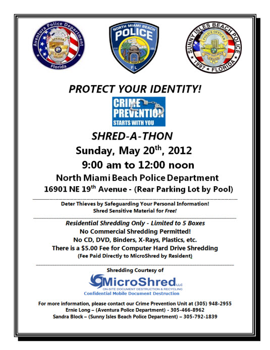 Shred A Thon May 20 2012 Microshred Inc 18664674733 Miami