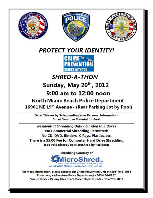 Shred A Thon May 20 2012 Microshred Inc 18664674733 Miami