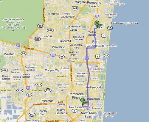 Oakland Park Florida Street Map 1250575