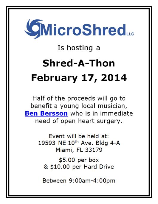 Ben Bersson Open Heart Surgery Shredding Event