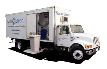 Mobile Shredding Company Truck - Secure and Confidential Document Destruction